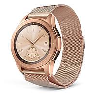 Ремешок DK Metal Milanese Loop Magnetic для Samsung Watch (40/42/44) (R500/R810/R820/R830) 20mm (pink rose)