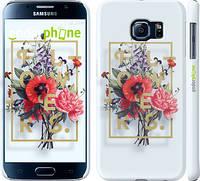 "Чехол на Samsung Galaxy S6 G920 Floral Typography 2 ""2100c-80"""