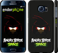 "Чехол на Samsung Galaxy S6 G920 Angry birds. Space on a black background ""538c-80"""
