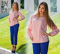 Женская стильная блуза ДГ759, фото 1
