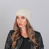 Женская вязаная шапка №445 в расцветках