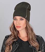 Женская вязаная шапка №627 в расцветках