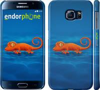 "Чехол на Samsung Galaxy S6 G920 Оранжевый геккон ""1064c-80"""