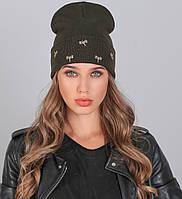 Женская вязаная шапка №630 в расцветках