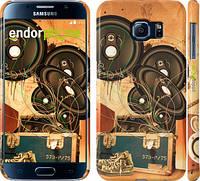 "Чехол на Samsung Galaxy S6 G920 Динамики на оранжевом фоне ""185c-80"""