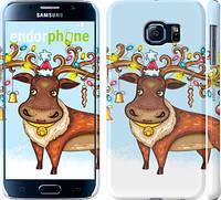 "Чехол на Samsung Galaxy S6 G920 Новогодний олень ""1474c-80"""