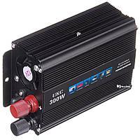 Преобразователь напряжения(инвертор) 12-220V 300W + USB Black