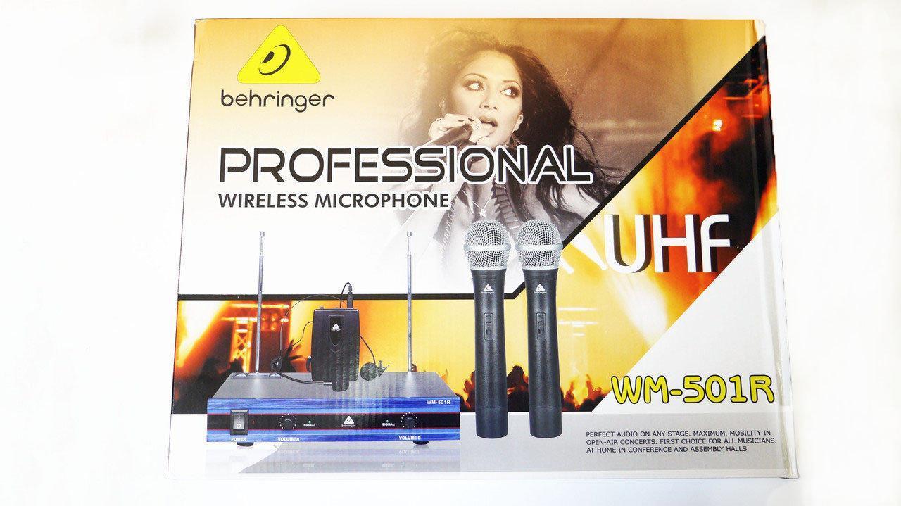 Радиосистема с 2-мя микрофонами Behringer Professional Wireless Microphone WM-501R