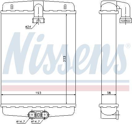 Радиатор отопления CHRYSLER CROSSFIRE/ MERCEDES-BENZ E-CLASS (W210)/MERCEDES CLK/MERCEDES S-CLASS 1971-2008 г.