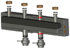 Распределительный коллектор Meibes до 130 кВт 2 контура