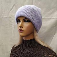 Молодежная шапка из ангоры Муза ODYSSEY лаванда 43129