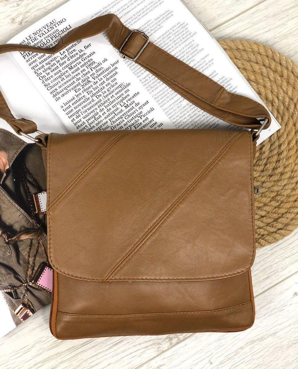 Жіноча сумка чорна натуральна шкіра код 22-1