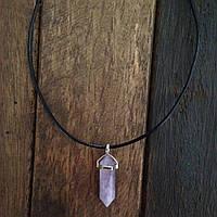 Кулон маятник из натурального камня Аметист