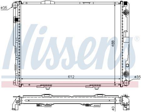 Радиатор MERCEDES-BENZ E-CLASS (W124) 1984-1996 г.