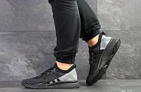 Мужские кроссовки в стиле Adidas Equipment adv 91-18, сетка, пена, черные с серым 44 (28 см)