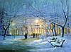 Купить картину пейзаж Зимний вечер