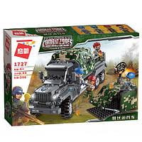Конструктор Qman1727 військова вантажівка, зброя, фігурки, 386 дет., кор., 37-27,5-6,5 см.