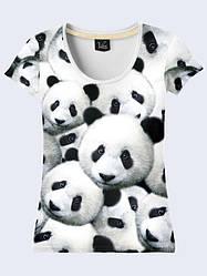 Женская футболка Пандочки