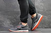 Мужские кроссовки в стиле Reebok, текстиль, пена, серые с помаранчевым 43 (27,6 см)