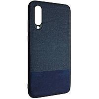 Чехол-накладка DK Silicone Form Fabric Cotton для Xiaomi Mi 9 Lite (Mi CC9) (blue)