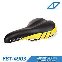 K.San YBT-4903 Leon Седло на детский велосипед 236  мм 134 мм черный-желтый