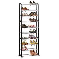 Стойка для обуви «Amazing Shoe Rack» на 30 пар Black