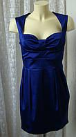 Платье женское модное атласное мини бренд John Zack р.46-48, фото 1