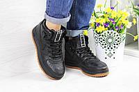 Женские кроссовки в стиле Nike Lunar Force 1, черные 38 (24,2 см)