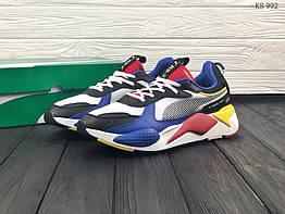 Мужские кроссовки в стиле Puma RS-X TOYS, натуральная кожа, сетка, пена, разные цвета 42 (26,5 см)