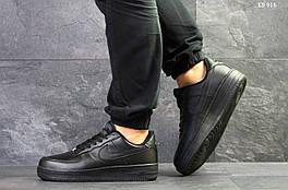 Мужские кроссовки в стиле Nike Air Force 1 low, черные 41 (26 см)
