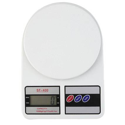 Электронные кухонные весы Domotec SF 400 с LCD-дисплеем на 10 кг + Батарейки