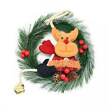 Декор рождественский Веночек 23см