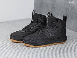 Мужские кроссовки в стиле Nike LF1 Duckboot, кожа, текстиль, полиуретан, черные 44 (28 см)