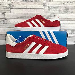 Мужские кроссовки / кеды в стиле Adidas Gazelle, замша, полиуретан, красные 43 (27,5 см)