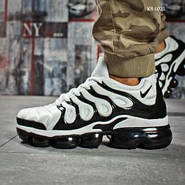 Мужские кроссовки в стиле Nike TN Air, текстиль, белые с черным 42 (26,5 см)
