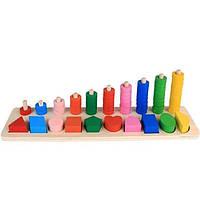 Деревянная игрушка Геометрика MD1268 (Фигуры)