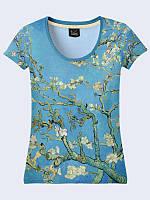 Женская футболка Цветущие ветки миндаля