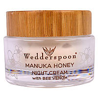 Wedderspoon, Ночной крем, Манука, Мед, Пчелиный Яд, 1,7 жидких унций (50 мл)