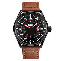 Часы Skmei 9113 Black Brown Band BOX 9113BOXBLBR, КОД: 116335