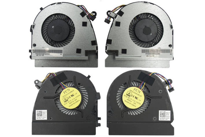 Вентилятор Dell Vostro V5460 V5470 V5480 Inspiron 14z-3526 левый+правый Original 4+4 pin (0HGT7X 0PPD50), фото 2