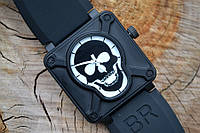 Часы Bell & Ross AIRBORNE SKULL & CROSSBONES PVD BLACK LIMITED EDITION череп