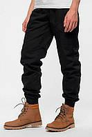 Утепленные штаны джоггеры черного цвета