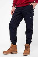 Утепленные штаны джоггеры синего цвета