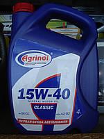 Минеральное моторное масло Agrinol Агринол 15w40 (4 литра)