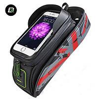 "Велосумка для смартфона на раму, RockBros, красная, до 5.8"", фото 1"