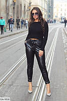Модные кожаные брюки размеры 48-54 арт 487