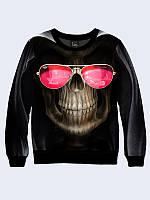 Свитшот Skull with glasses