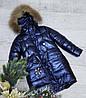 Зимняя куртка 61 DH на 100% холлофайбере размеры только 134 см в синем  цвете