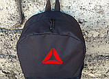 Спортивный, городской рюкзак рибок, Reebok. Черный. Стильный / R 1, фото 6