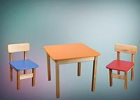 Комплект: детский стол и 1 стул деревянный цветной Ольха (лакированный) ТМ Финекс Украина